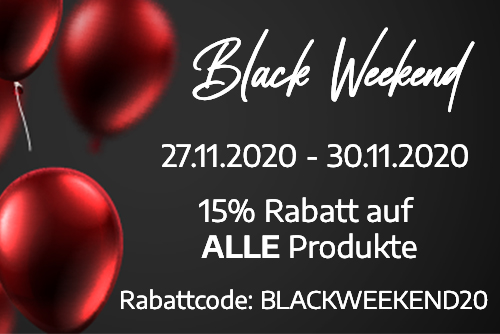 Black Weekend in unserem Onlineshop!
